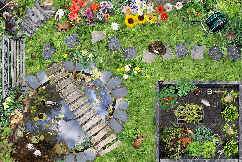 The garden floral flooring