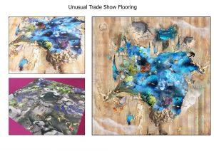 unusual trade show flooring